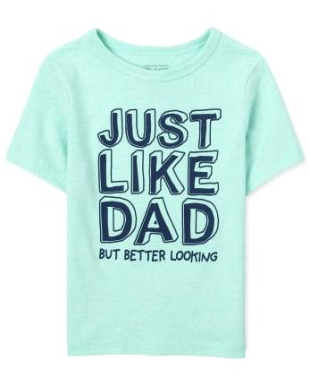Camiseta estampada Just Like Dad para bebés y niños pequeños