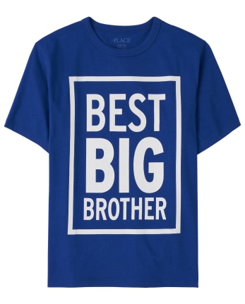 Boys Best Big Brother Graphic Tee