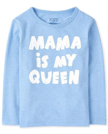 Baby And Toddler Boys Mama Is My Queen Graphic Tee