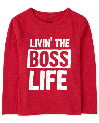 Baby And Toddler Boys Boss Life Graphic Tee