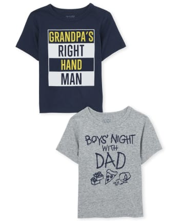 Baby And Toddler Boys Family Graphic Tee 2-Pack