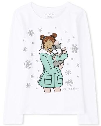 Girls Winter Girl Graphic Tee