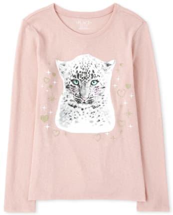 Girls Cheetah Graphic Tee
