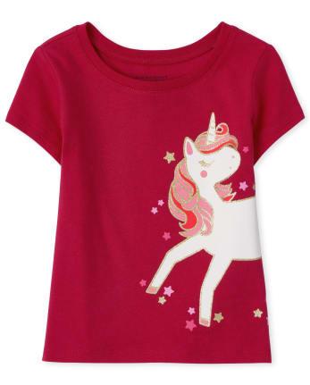 Baby And Toddler Girls Unicorn Graphic Tee