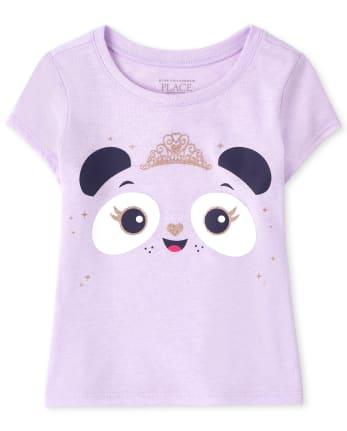 Baby And Toddler Girls Panda Princess Graphic Tee