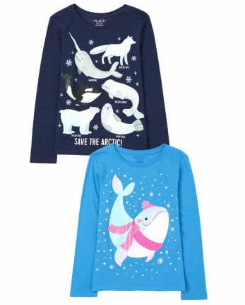 Girls Animals Graphic Tee 2-Pack