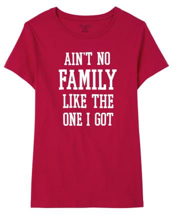 Camiseta con estampado familiar familiar a juego para mujer