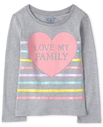 Baby And Toddler Girls Love My Family Graphic Tee