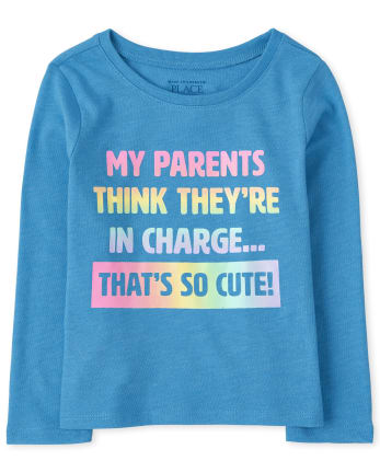 Baby And Toddler Girls My Parents Graphic Tee