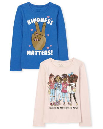 Girls Kindness Squad Graphic Tee 2-Pack
