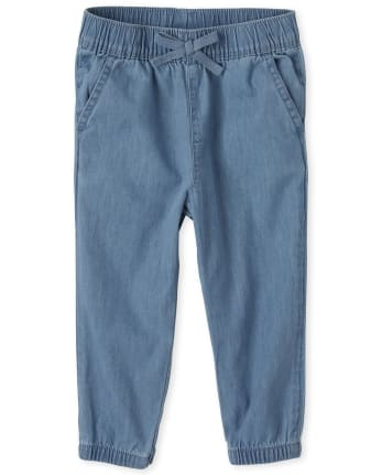 Baby And Toddler Girls Denim Pull On Beach Pants