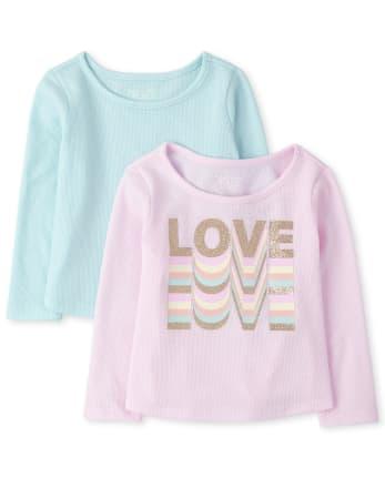 Toddler Girls Love Thermal Top 2-Pack