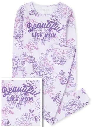 Girls Mommy And Me Beautiful Matching Snug Fit Cotton Pajamas