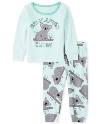 Baby And Toddler Girls Koala Snug Fit Cotton Pajamas