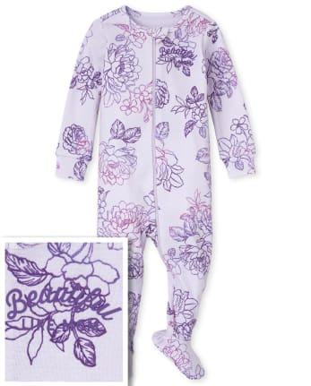 Pijamas de una pieza de algodón con ajuste ceñido a juego para bebés y niñas pequeñas, mamá y yo