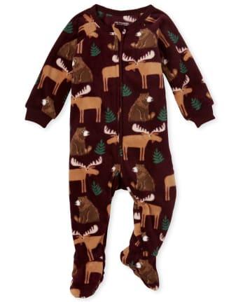 Pijama de una pieza de lana de invierno para bebés y niños pequeños