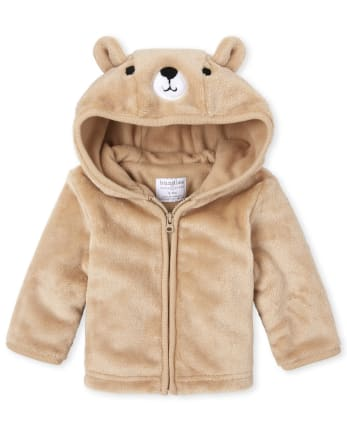Baby Boys Bear Faux Fur Cozy Jacket