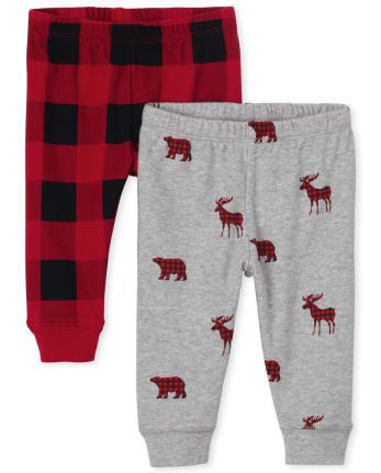 Baby Boys Buffalo Plaid Pants 2-Pack