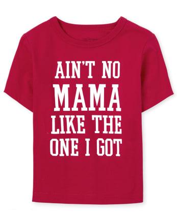 Camiseta estampada Family Mama a juego para bebés y niños pequeños