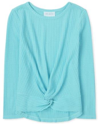 Girls Twist Front Lightweight Sweater