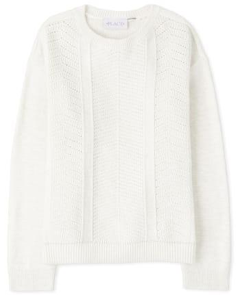 Girls Stitched Sweater