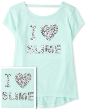 Girls Graphic Cut Out Top