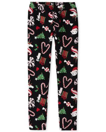 Girls Print Cozy Leggings