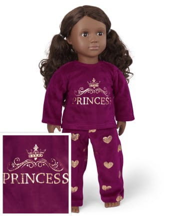 Doll Mommy And Me Princess Velour Matching Pajamas