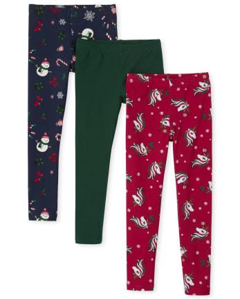 Girls Holiday Leggings 3-Pack