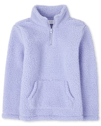 Girls Sherpa Half Zip Pullover