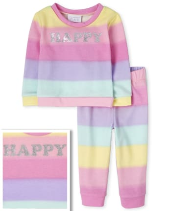Toddler Girls Rainbow Ombre 2-Piece Set
