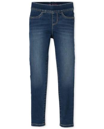 Girls Super-Soft Stretch Denim Pull On Legging Jeans