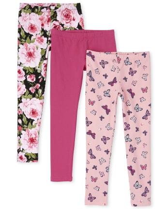 Pack de 3 leggings estampados para niñas