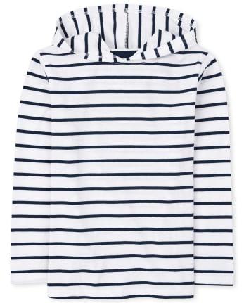 Boys Striped Hoodie Top