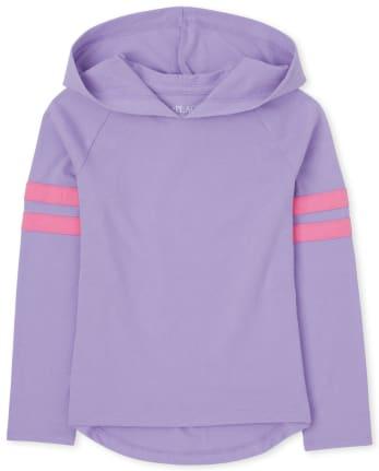 Top de jersey con capucha para niñas