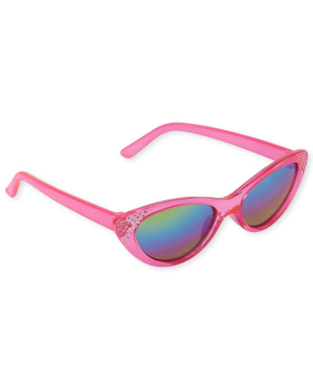 Toddler Girls Jeweled Cat Eye Sunglasses