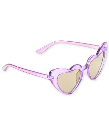 Toddler Girls Heart Sunglasses