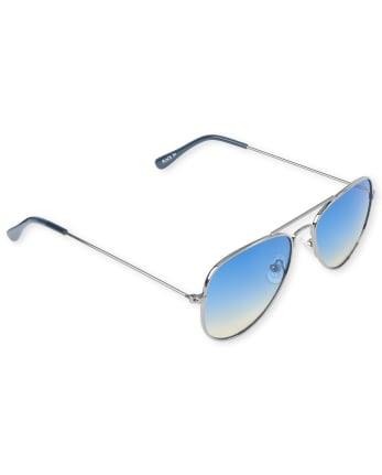 Unisex Kids Aviator Sunglasses