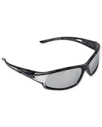 Boys Camo Sport Wrap Sunglasses