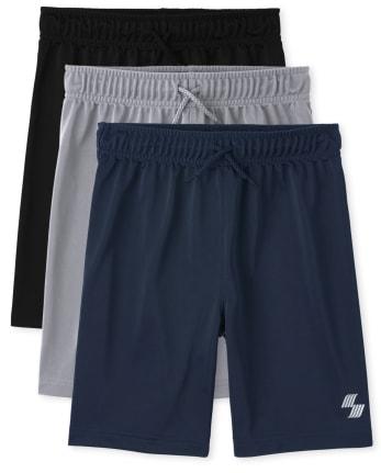 Boys Basketball Shorts 3-Pack