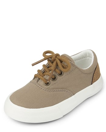 Toddler Boys Canvas Low Top Sneakers