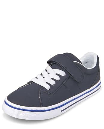 Boys Striped Low Top Sneakers