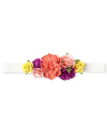 Baby Girls Flower Crown Headwrap