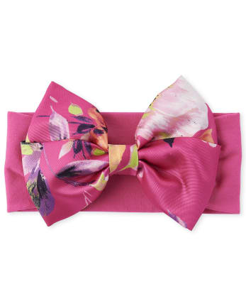 Baby Girls Floral Bow Headwrap