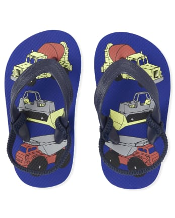 Toddler Boys Truck Flip Flops