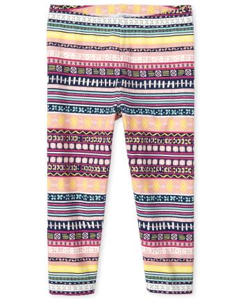 Girls Print Capri Leggings
