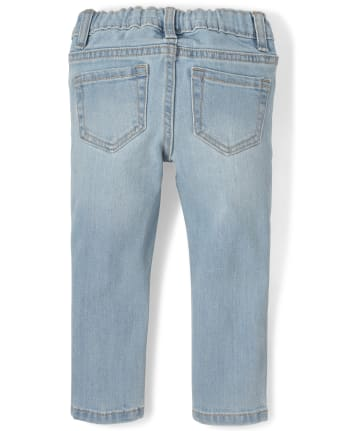 Valentine JeansHeart Distressed Knees Distressed Blue Jeans  Baby and Toddler Jeans