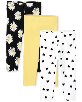 Toddler Girls Print Capri Leggings 3-Pack