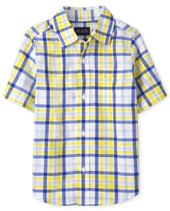 Boys Dad And Me Plaid Poplin Button Down Shirt