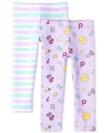 Toddler Girls Print Leggings 2-Pack